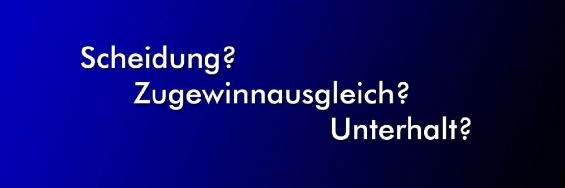 Scheidung und Zugewinnausgleicht - Rechtsanwalt Pieconka Würzburg