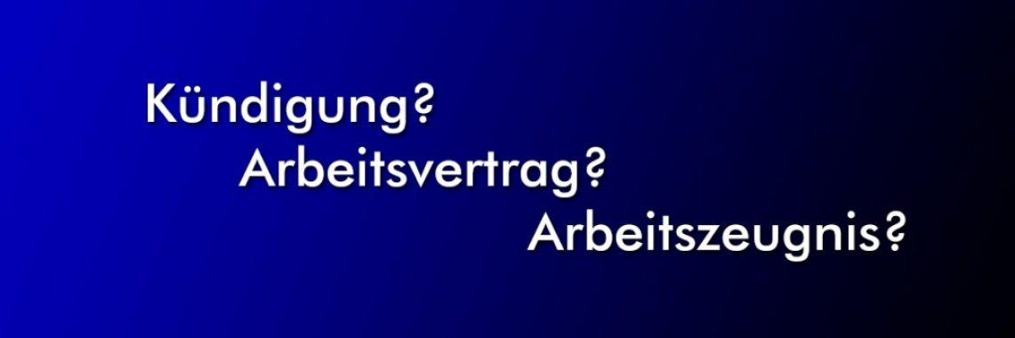 Arbeitsrecht und Kündigungsschutzklage - Rechtsanwalt Ulf Pieconka in Würzburg